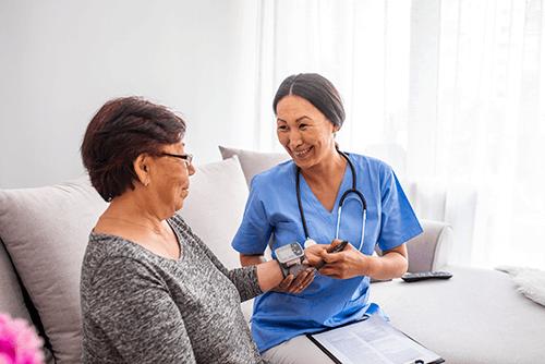 Nurse Preparing A Patient for Infusion