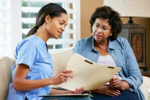 IVIG Medical Staff Talks with IVIG Patient